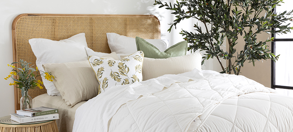 Every Season Wool Quilt on Bed | Pillow Talk