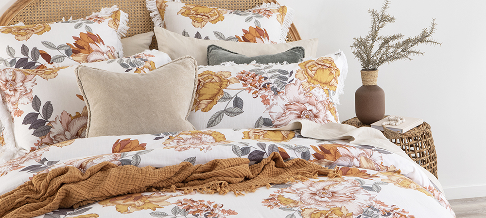 botanical quilt cover set