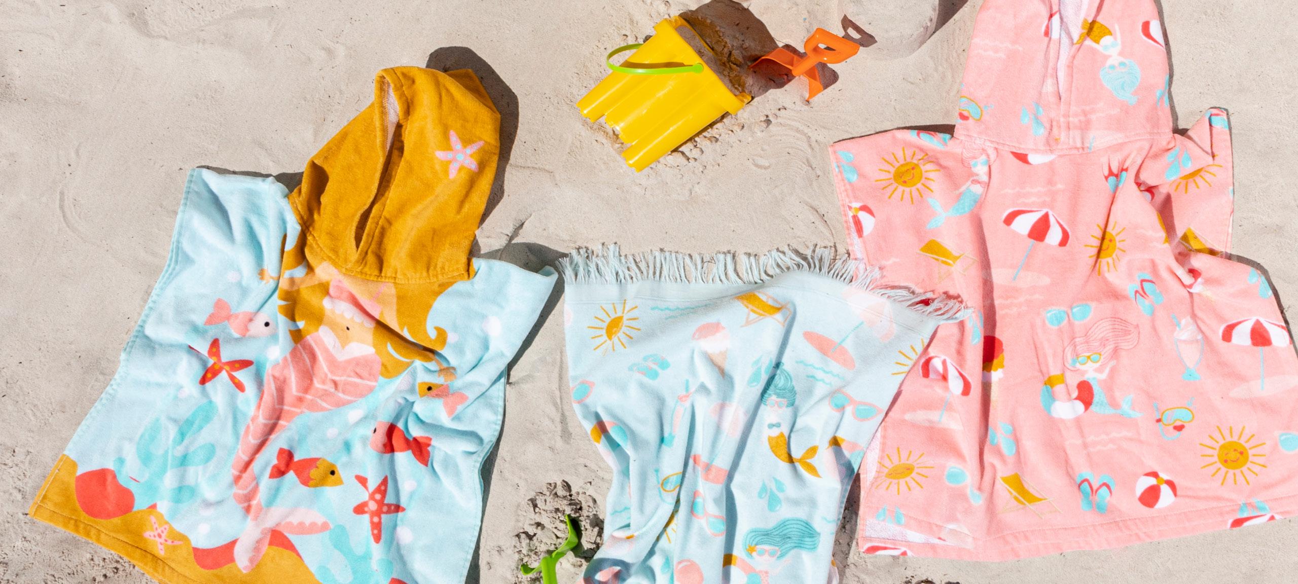 Pillow Talk hooded kids beach towels