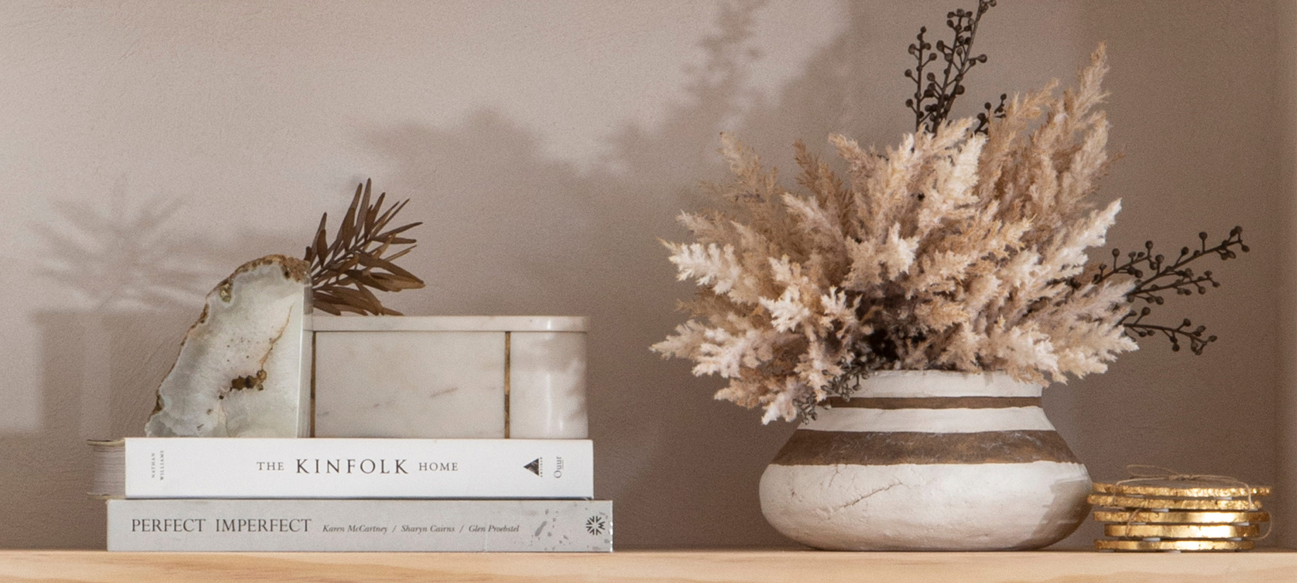 Pillow Talk Marble and Agate Styling Agate bookend